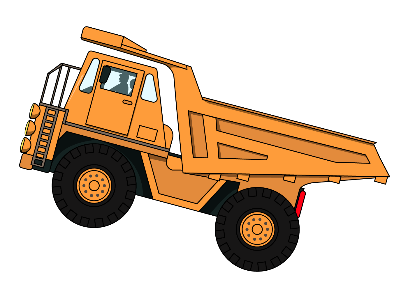construction driver truck